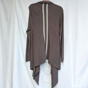INC Gray A-Line Open Front Cardigan Size Large
